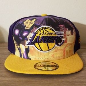Lakers x Iron Man New Era hat